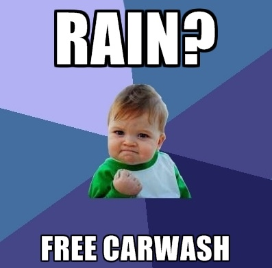 Rain Free Car Wash Meme