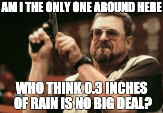 Rain is No Big Deal