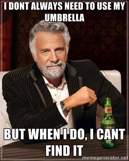 No Umbrella Meme