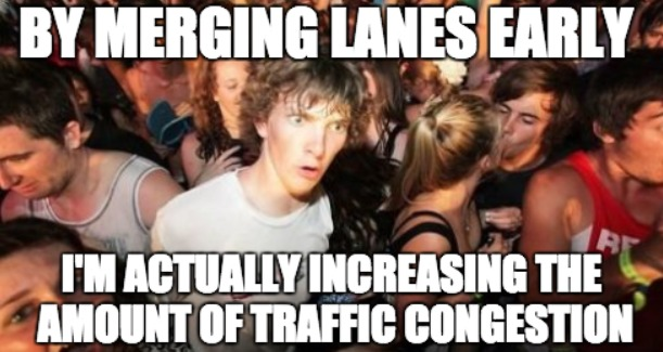 Zipper Merging Meme