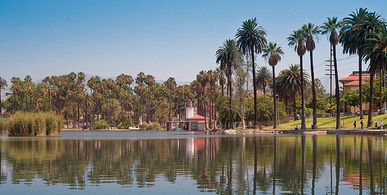 Echo Park Lake Day