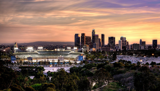 LA Skyline with Dodger Stadium