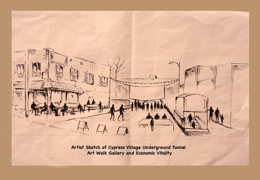 Cypress Park Underground Tunnel Sketch