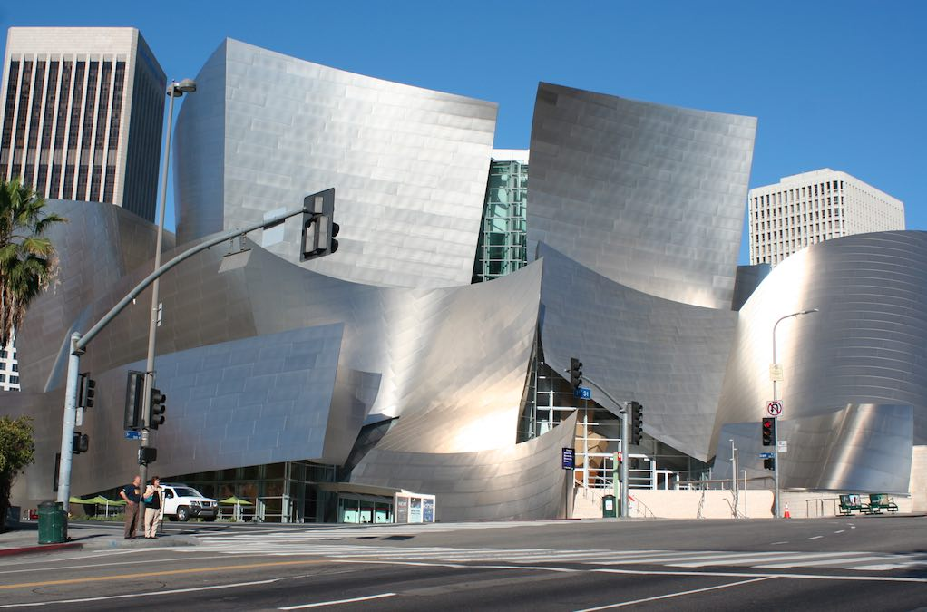 Disney Concert Hall in Downtown Los Angeles