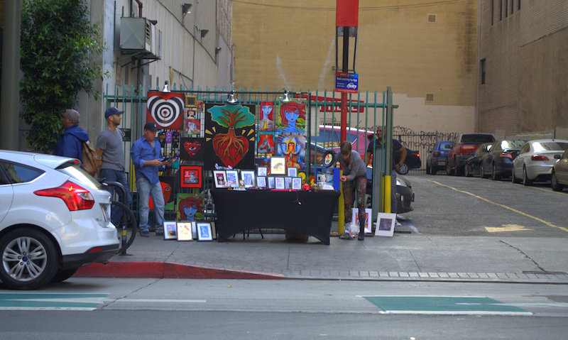 Art Display Near One of Many Public Parking Lots  During The Downtown Art Walk