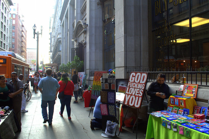Art Displays in Front of The Last Bookstore During The Downtown Art Walk