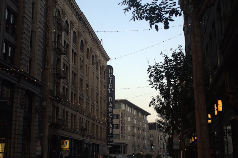 Hotel Barclay at Sunset in Downtown Los Angeles
