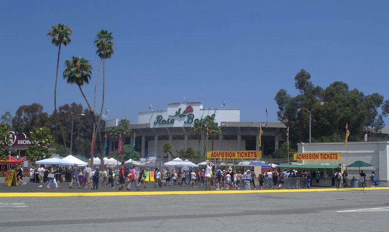 The Outside Entrance of The Rose Bowl