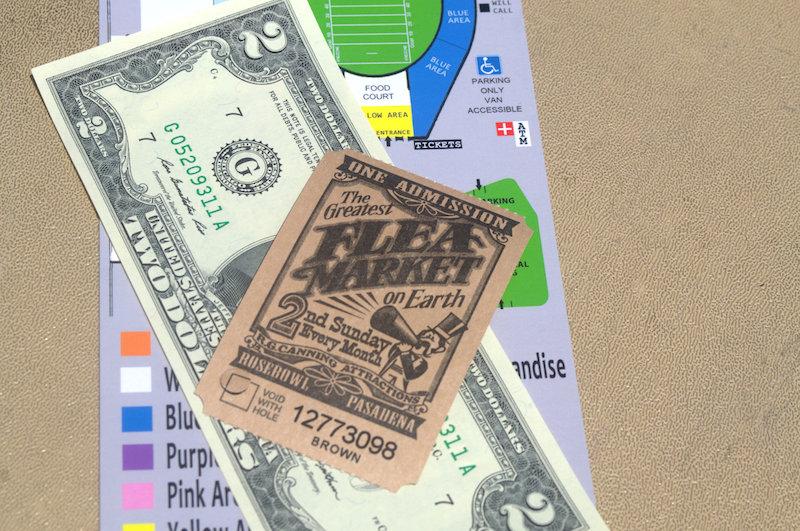 Rose Bowl Flea Market Admission Ticket