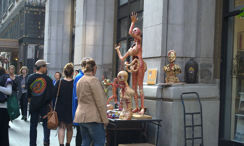 Abstract Sculptures Displayed at The Downtown Art Walk