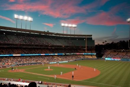 Twilight at Dodger Stadium