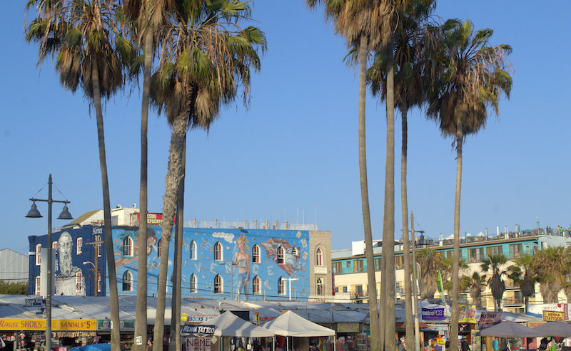 Some of the Venice Beach Artwork and Vendors Along the Boardwalk