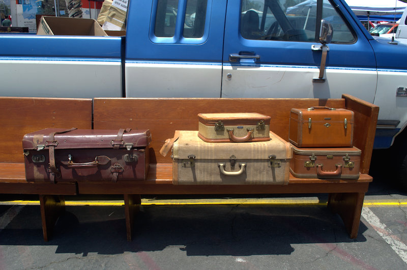 Vintage Suitcases at The Rose Bowl Flea Market