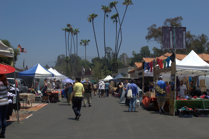 Some of the vendors and booths at The Rose Bowl Flea Market