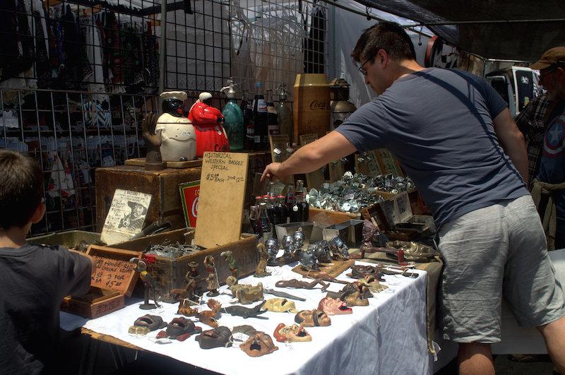 Western Themed Vendor at The Rose Bowl Flea Market