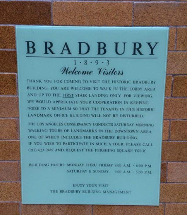 Bradbury Building Public Hours