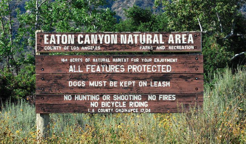 Eaton Canyon Natural Area Sign