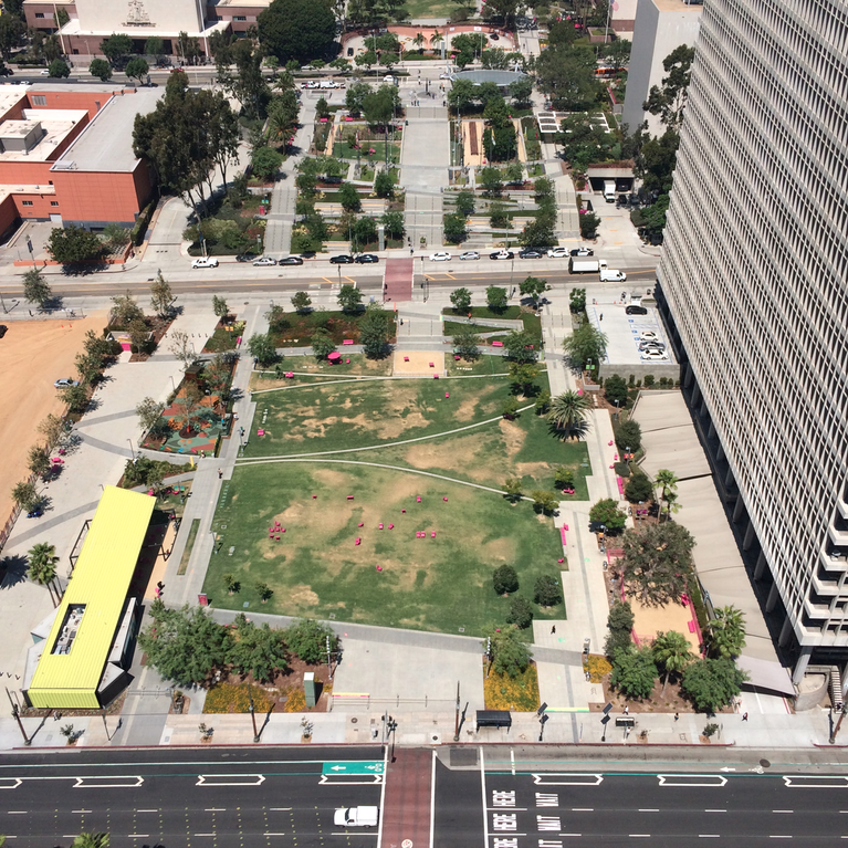 Grand Park from City Hall View