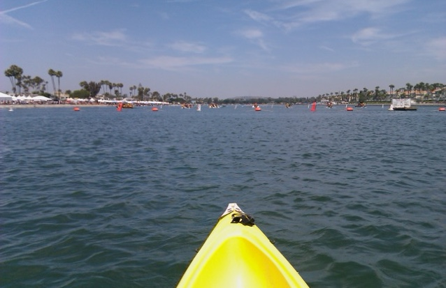 Kayaking in Alamitos Bay
