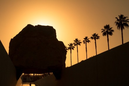 Levitated Mass LACMA Sunset