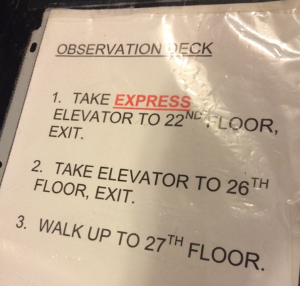 Observation Deck Instructions