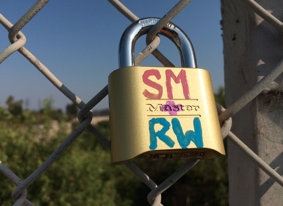 Love Lock up close.