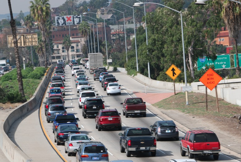 Traffic in L.A. on the 101