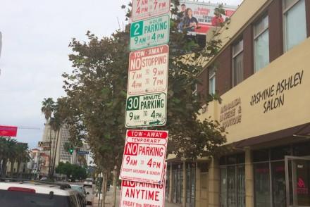 Crazy L.A. parking sign