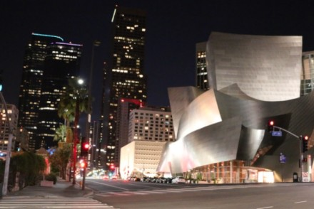 Walt Disney Concert Hall Night