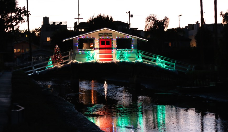Christmas Lights at Venice Canals