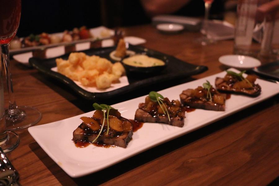 wagyu tongue at blue ribbon sushi bar and grill