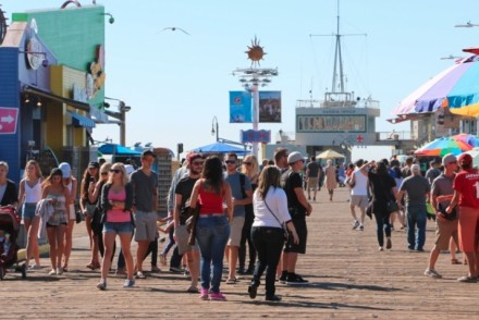 Santa Monica Pier Crowd