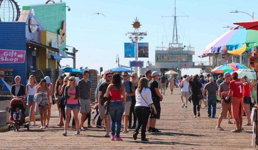 Santa Monica Pier Crowd