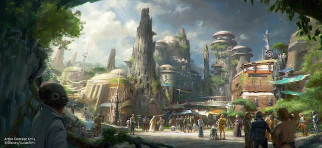 Star Wars Land Artist Concept