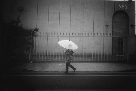 Walking in Rain in Los Angeles