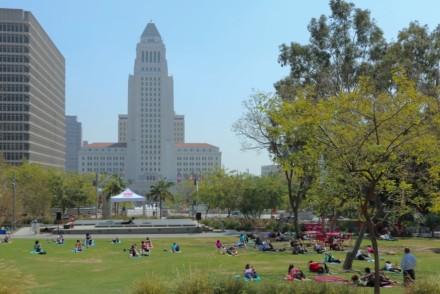 Grand Park LA afternoon