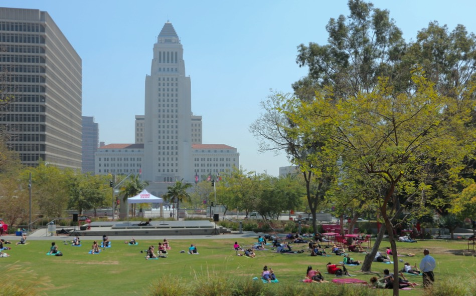 Grand Park LA afternoon