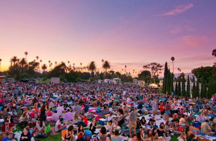 Hollywood Forever Cemetery Sunset
