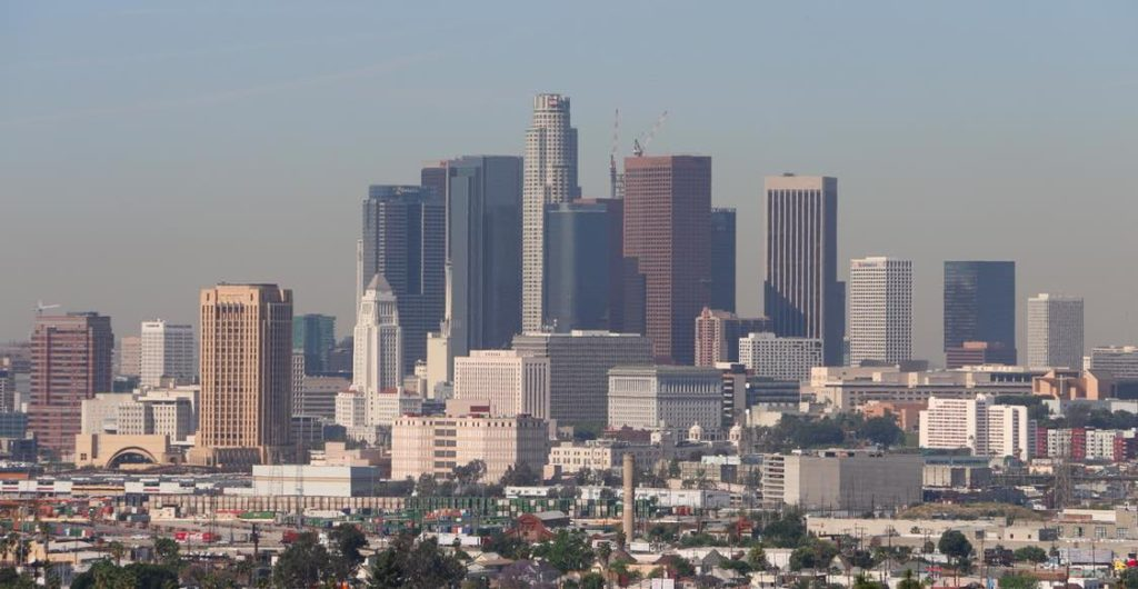 Downtown L.A. Skyline from Ascot Hills Park