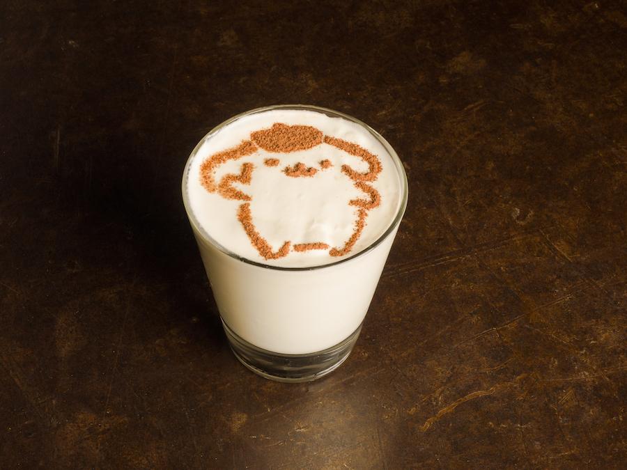 sanrio plancheck pompompurin milkshake