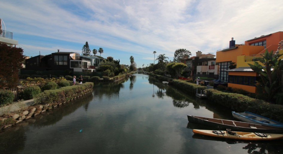 Venice Canals with Blue Skies