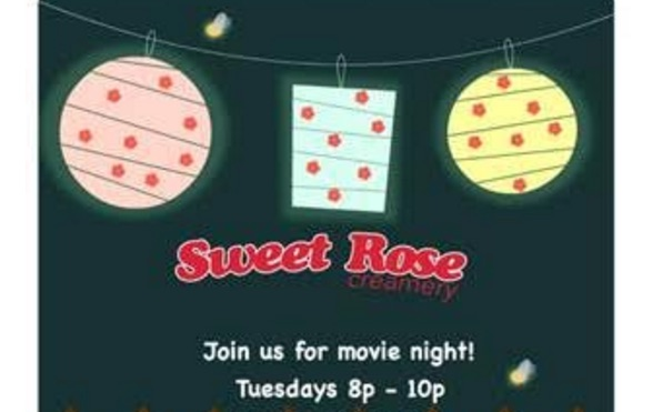 sweet rose summer cinema night