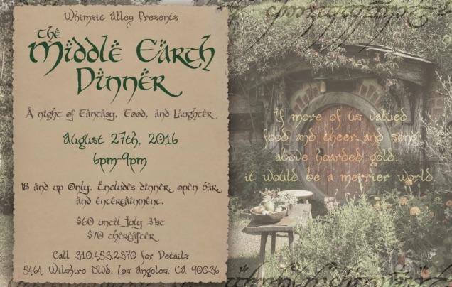 the hobbit dinner 2016