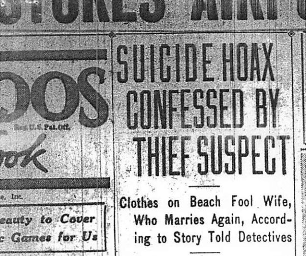 Headline from the L.A. Examiner, July 24, 1928.