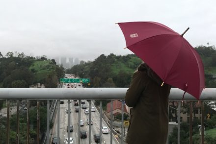 Umbrella over the 110 Freeway