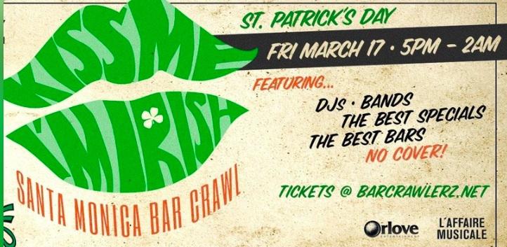 Kiss Me, I'm Irish: Santa Monica Bar Crawl