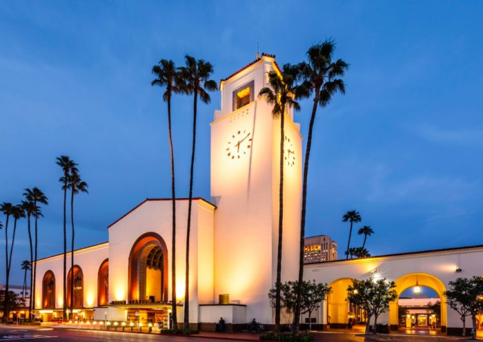 Exterior of Union Station Los Angeles