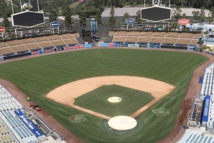 Dodger Stadium empty stands