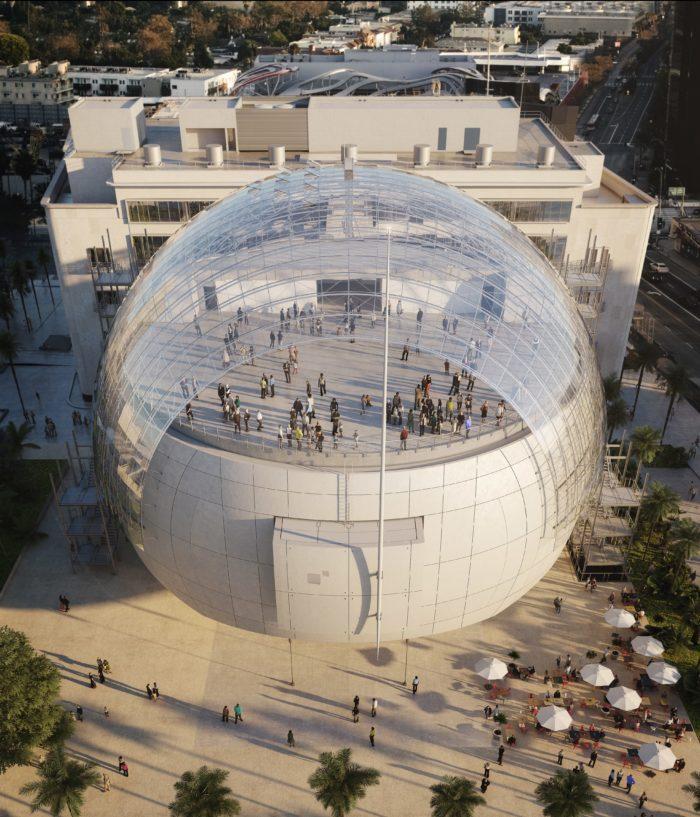 Academy Museum Glass Dome Facing South Rendering
