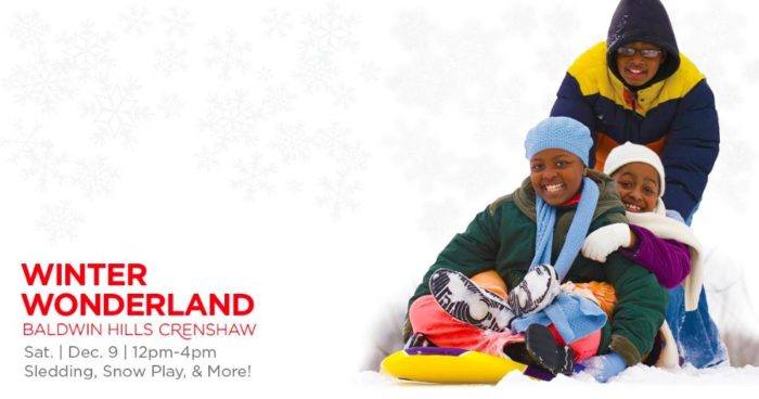 Baldwin Hills Crenshaw's Annual Winter Wonderland Holiday Celebration